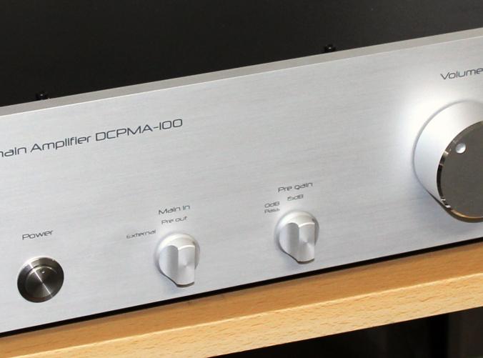 プリメインアンプDCPMA-100 フロントパネル拡大図